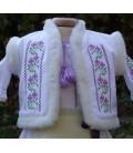 Bundita botez brodata traditionala Violeta