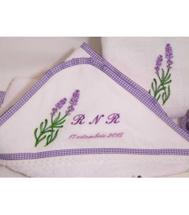 Trusou botez personalizat lavanda