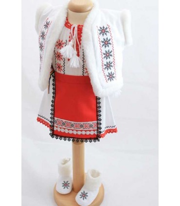 Costum botez traditional fetite complet Stelute