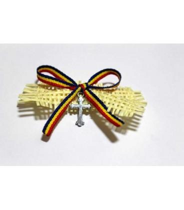 Cruciulite botez fundita tricolora decorata